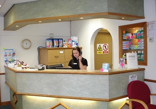 Meet the Team - Reception desk at Alrewas Dental Practice in Burton on Trent